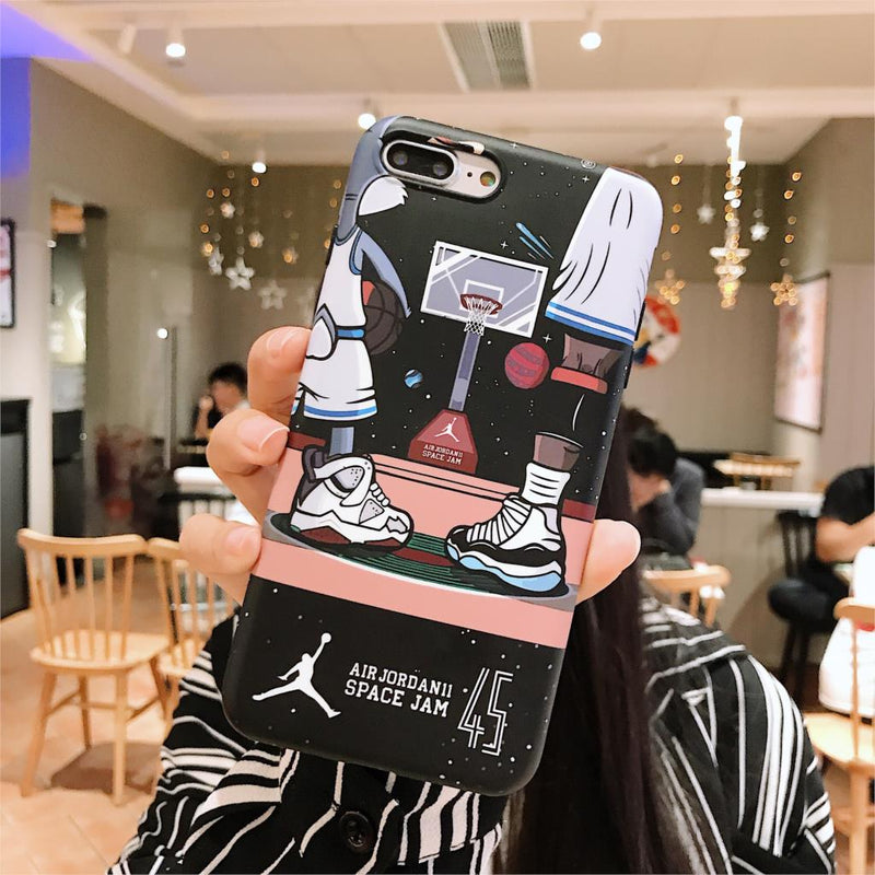 outlet store 53acd 866d4 23 Super Michael Jordan Case for iPhone X XS Max Xr 8 7 6 6s Plus Chicago  45 Cartoon Basketball Matte soft imd Phone Cover Coque