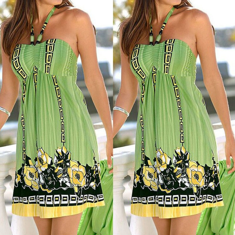 bc14b371b13f9 2018 Women Summer Casual Sleeveless Evening Party Beach Short Mini Dress  Sexy Dress Women Dresses Plus