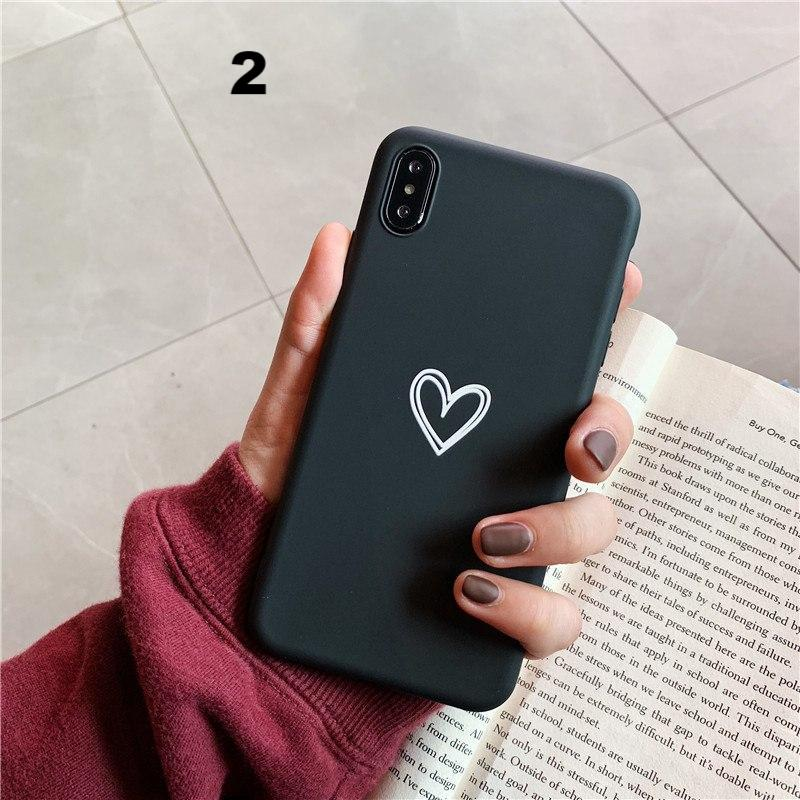 ff6313673df63 Fashion Simple Love Heart Phone Case For iphone X XR XS Max Case For iphone  6
