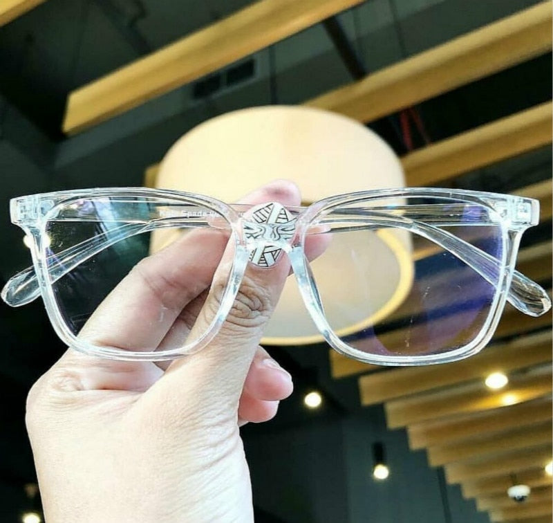 2018 Fashion Women Glasses Frame Men Transparent  Eyeglasses Frame Vintage Square Clear Lens Glasses Optical Spectacle Frame