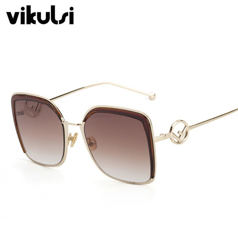 c94bc62a755 2018 Oversized Cat Eye Sunglasses Women Brand Designer Elegant Fashion Sun  glasses Ladies Vintage Big Frame