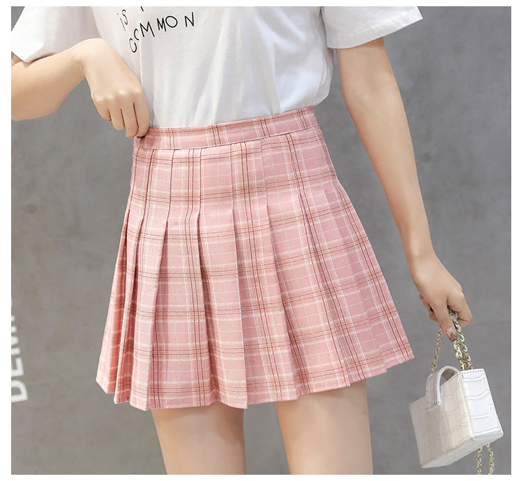 4166c0000e AOTEMAN Fashion Summer Skirts Womens 2019 Sexy Elegant High Waist Mini Skirt  Ladies Vintage Plaid Pleated