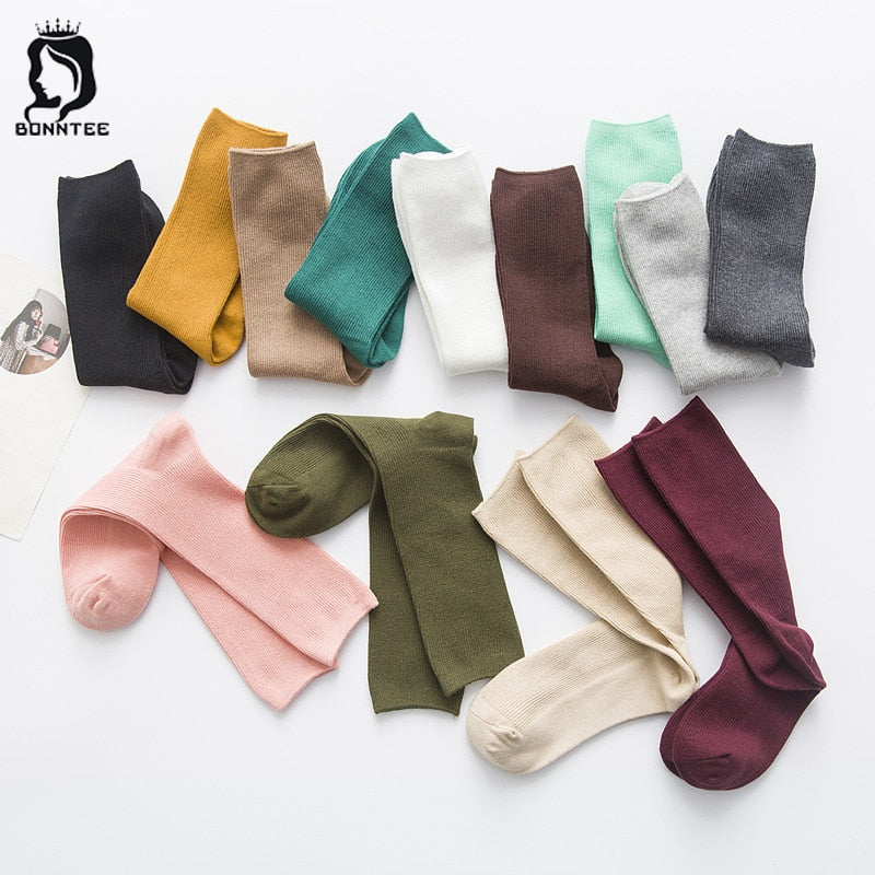 Breathable Cotton Funny Socks Womens Various Colors Fashion Women Korean Style Females Cute Sock Casual Deodorant Female Trendy