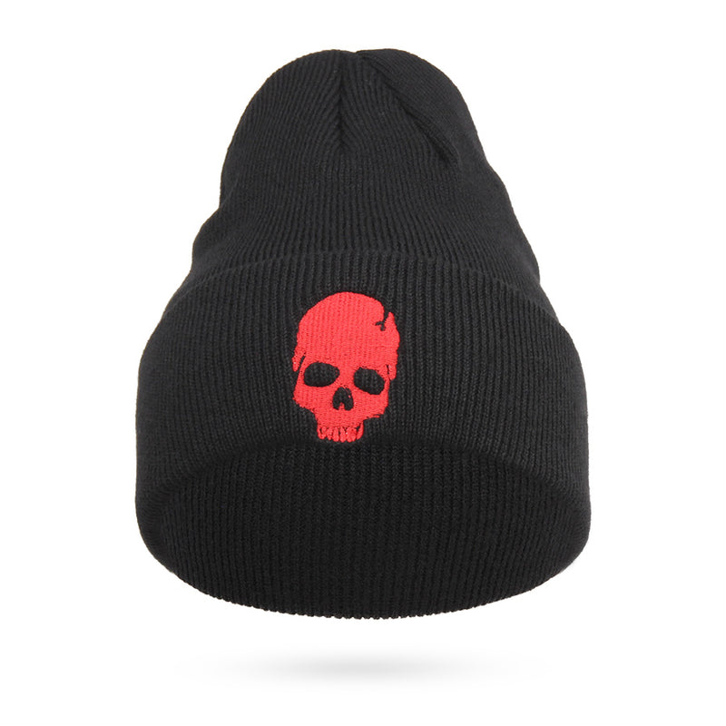 79909c19 Cool Embroidery Skull Head Beanies For Men Winter Cap Women's Acrylic Black  Skiing Hat Stretch Hip-Hop Skullies Warm Hats Male