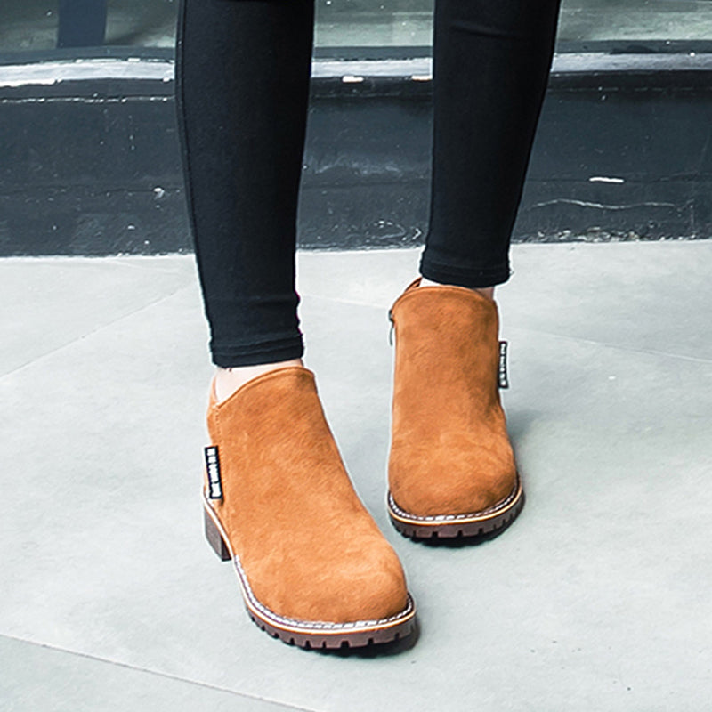 Women martin boots suede autumn winter warm short boots shoes woman feminina female motorcycle ankle boots women botas mujer