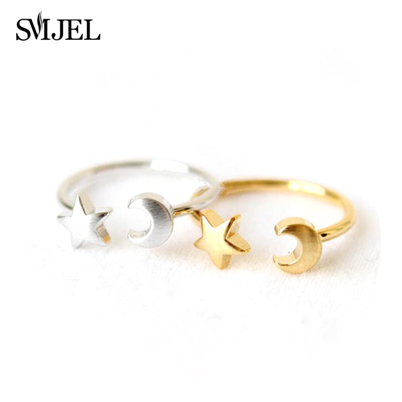 In Style; 2019 Tiny Cute Half Moon Rings For Women Simple Crescent Moon Knuckle Midi Ring Female Jewelry Christmas Colorful Cz Ring Gifts Fashionable