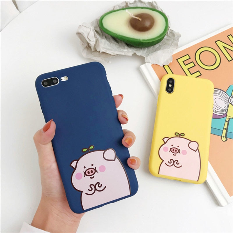 a2e409879c Funny Cartoon Pig Phone Case For iPhone XS Max Case For iphone XR X 6 6S