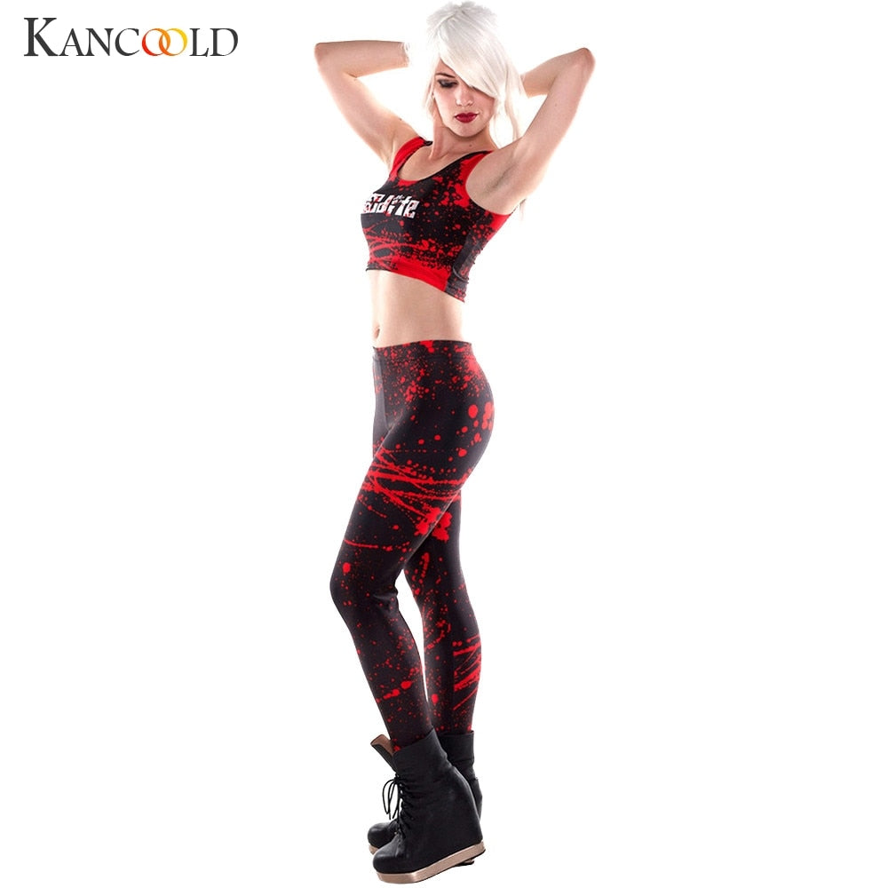 KANCOOLD Leggings Slim was thin digital printed blood-leggings Streetwear High Ankle-Length Natural Color Leggings dec6