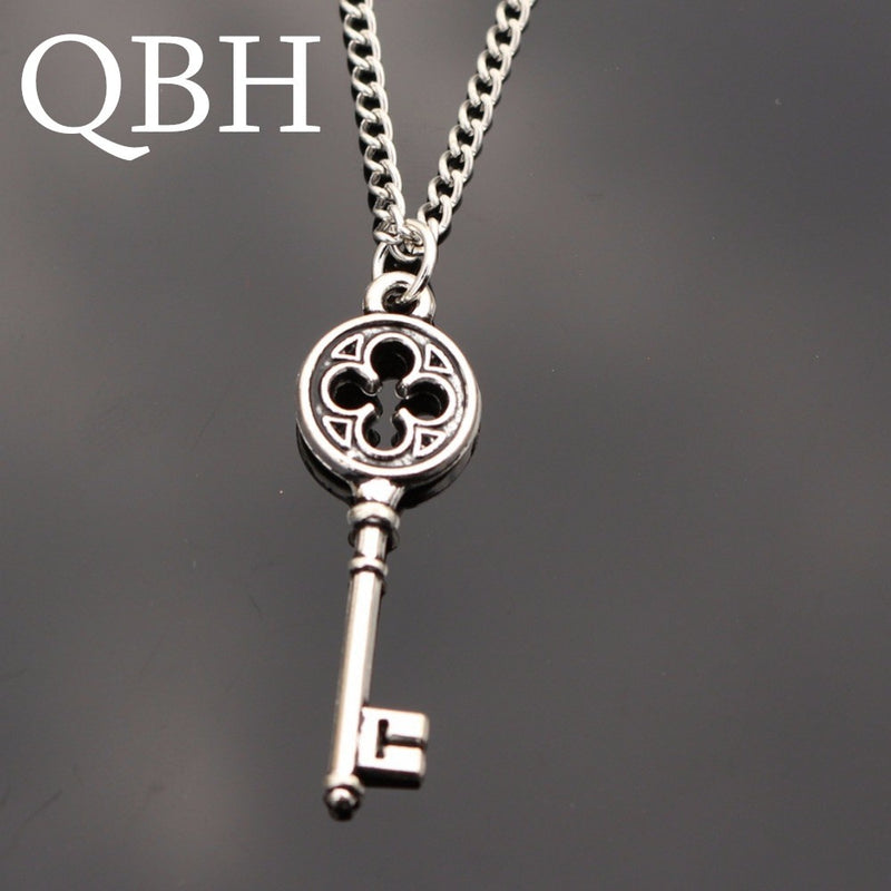 451a845c7 NK995 New Hot Love Vintage Punk Silver Key Pendant Necklace Collares Bijoux  For Women Jewelry Girl