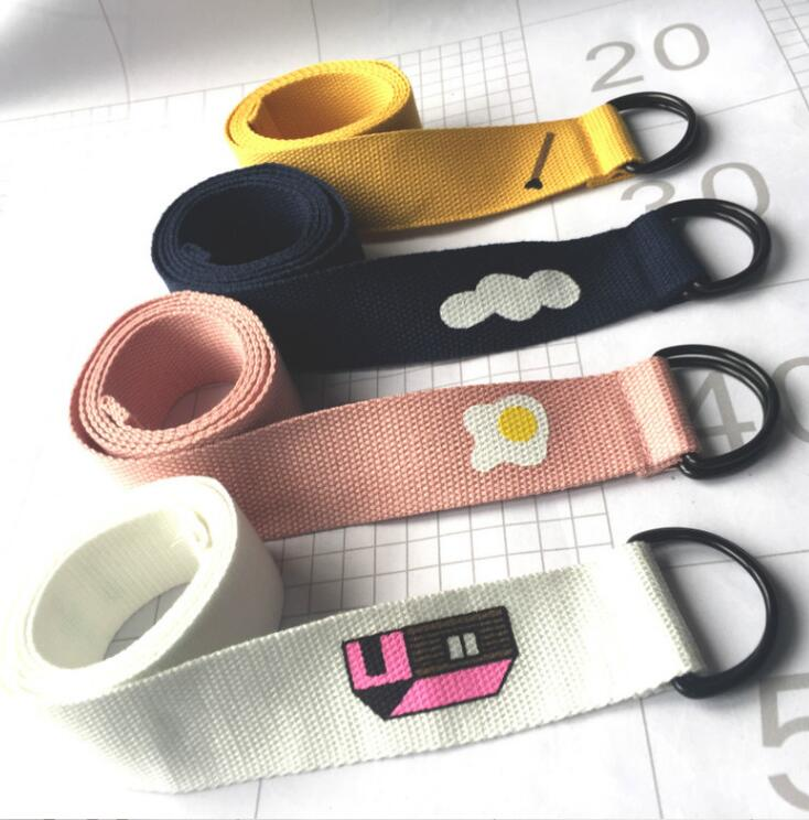 Harajuku Funny Cartoon Candy Color Men and Women Belts