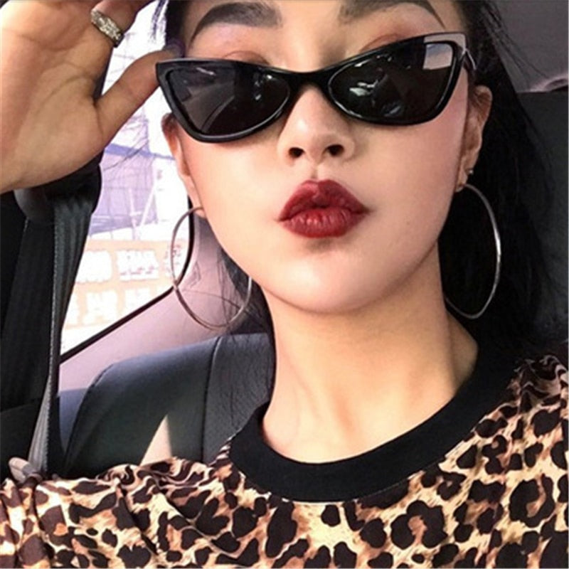 bcbf3c40ff New Women Small Cat Eye Sunglasses 2018 Vintage Men Fashion Brand Designer  Red Shades Square Sun