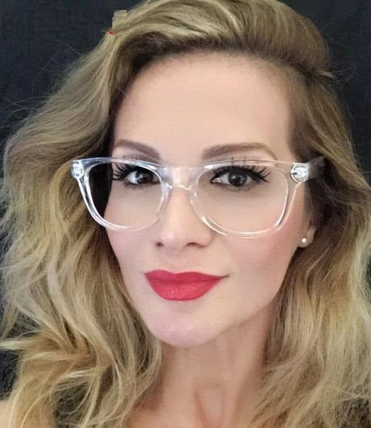 Women Eyeglasses Brand Designer Transparent Frame Prescription Glasses Retro Clear Optical Eye Glasses Spectacle Frames For Men