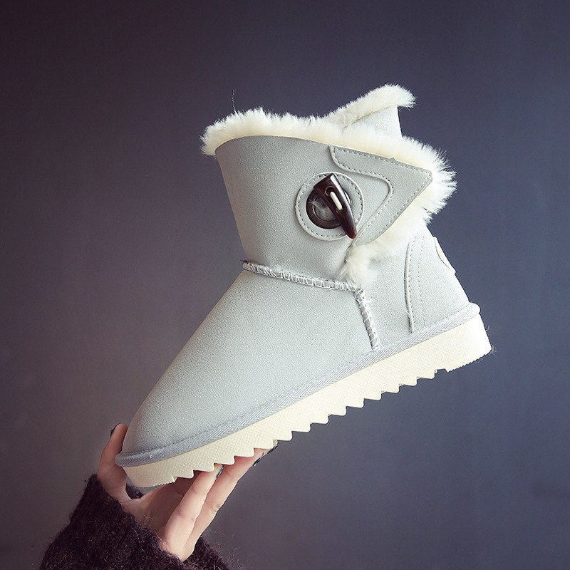fe5c6262601 Boots Women Winter Thicker Warm Push Ugly Snow Booties Cute Fashion Korean  Style Womens Australia Casual Shoes Ladies Non-slip
