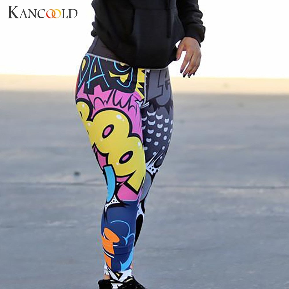 KANCOOLD Pants Leggings Women Print Workout Legging Fitness Sports Running Athletic Skinny fashion sexy new pants woman 2019JAN9