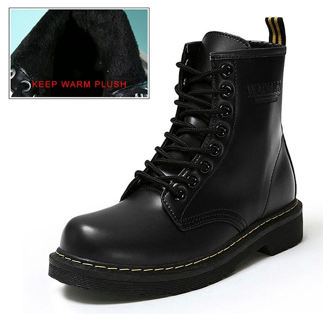 1408ca71 Winter Ankle Boots Pu Leather Women Boots for Martin Boots Women Work Shoes  Black Round Toe