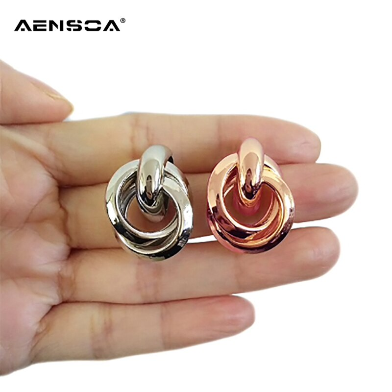 b818c39890cdf AENSOA 2018 New Knotted Stud Earrings Women Classic Minimalist Twisted  Small Stud Earrings Cute Stud Jewelry Gold Silver Color