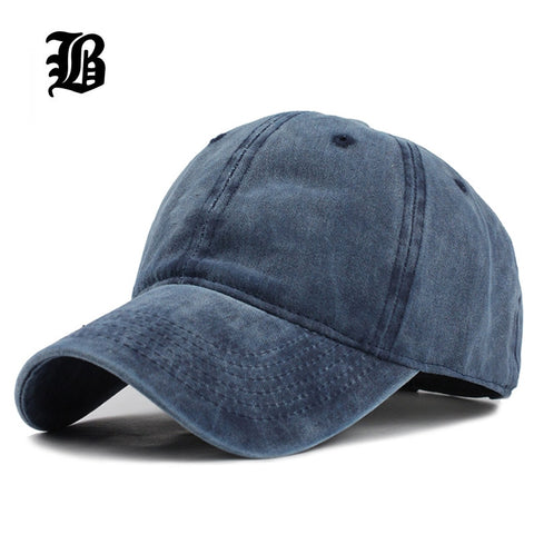 66b308623 FLB] Hot Retro Washed Baseball Cap Fitted Cap Snapback Hat For Men ...