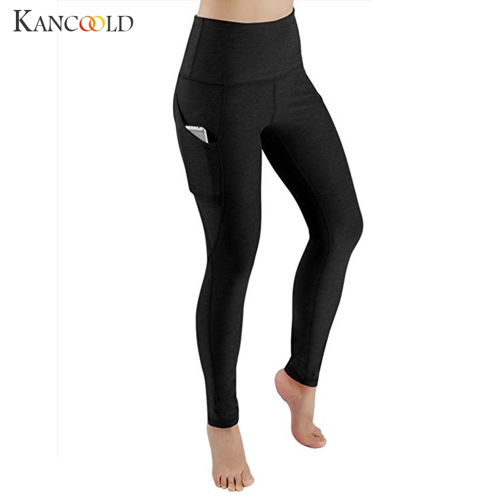KANCOOLD Pants Leggings Women Workout Out Pocket Leggings Fitness Sports Running Athletic Skinny casual pants woman 2019JAN9