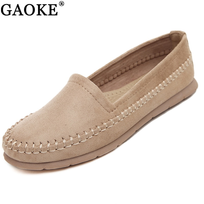 419cd519598 Women Loafers Shoes Round Toe For Woman Casual Soft Flats Ladies Driving  Shoe Slip-on Shoes Moccasins