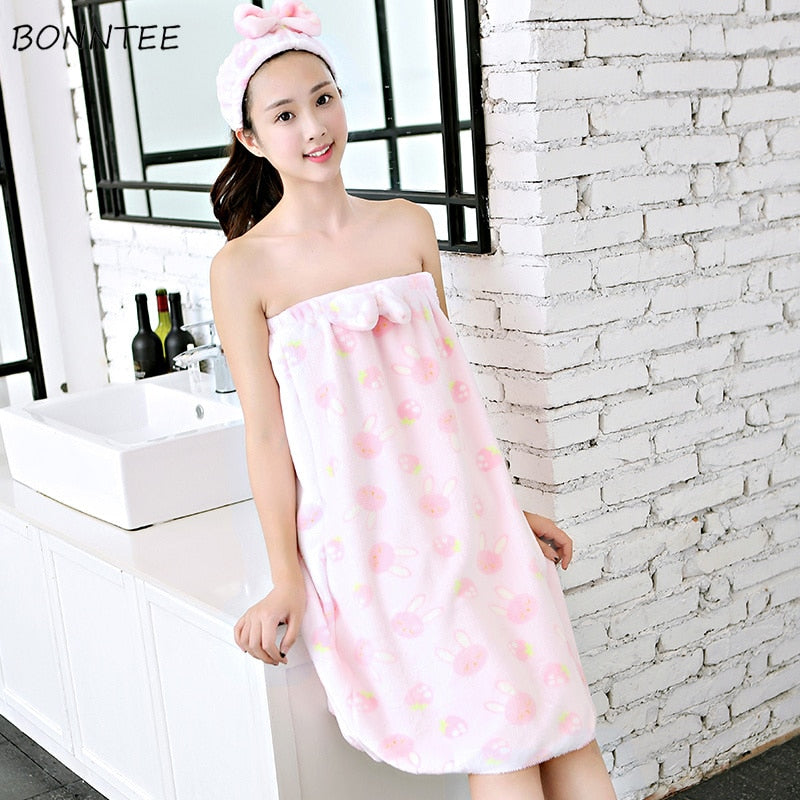 Nightgowns Womens Trendy Thicken Loose Flannel Sleepwear Kawaii Women Cartoon High Quality Bathrobe Warm Ladies Homewear Lovely