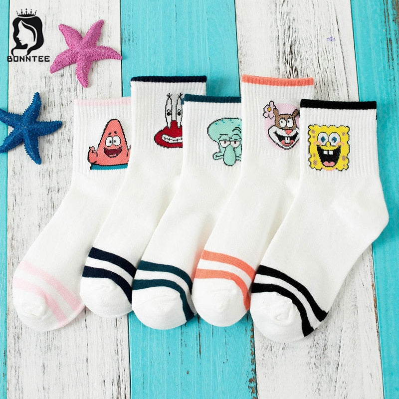 Harajuku Breathable Women Funny Socks Womens Candy Colors Cute Sock Females Kawaii Female Trendy Deodorant Fashion College Style