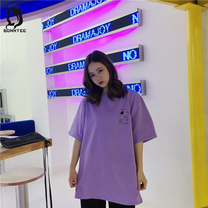 183bd44d9 Summer Women Casual Loose T-shirt Womens Harajuku Oversize T-shirts Female  Korean Style