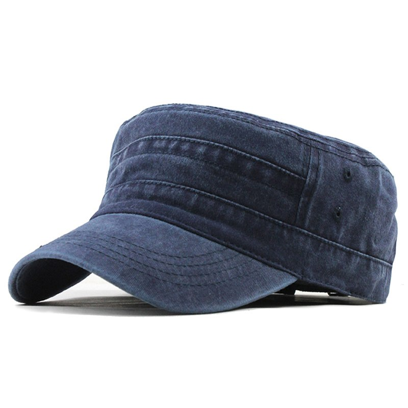 4a4ba59613d  FLB  2019 Classic Vintage Flat Top Mens Washed Caps And Hat Adjustable  Fitted Thicker