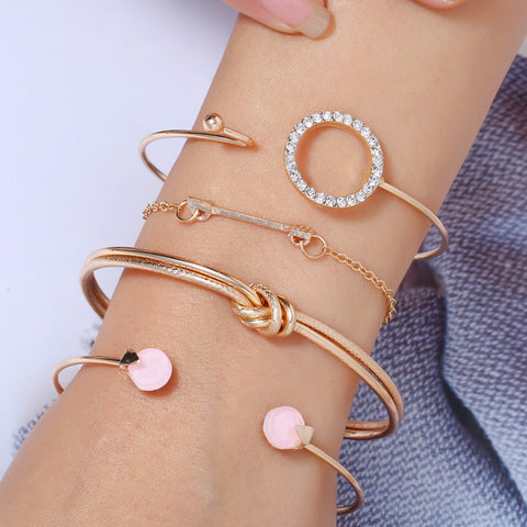 Bangles Self-Conscious Flatfoosie Fashion Vintage Leather Bangle Bracelets For Women Leopard Resin Cuff Bracelet Female Punk Bohemian Elegant Jewelry