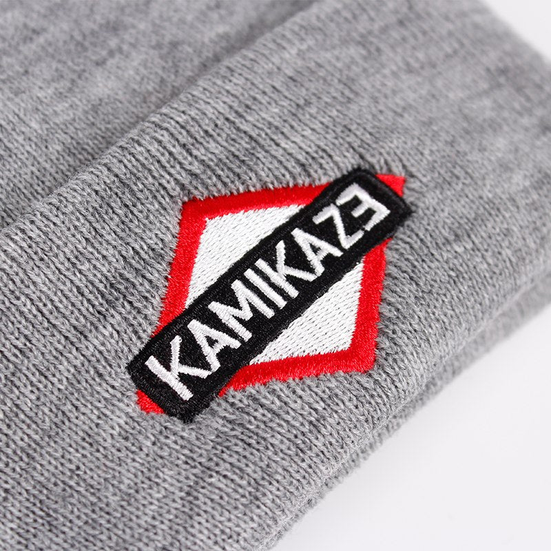 05954e845c3 Kamikaze Knitted Hat Eminem Latest Album Hats Elastic Brand KAMIKAZE  Embroidery Beanie Winter Warm Skullies
