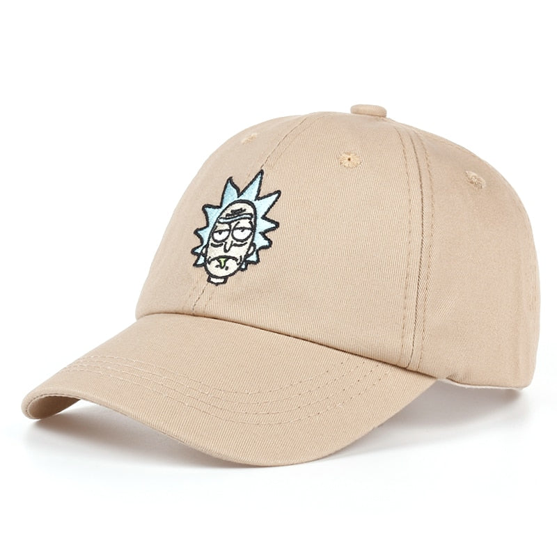 100% Cotton Rick and Morty New Tan Dad Hat Classic Rick Baseball Cap  American Anime 177946ab8217
