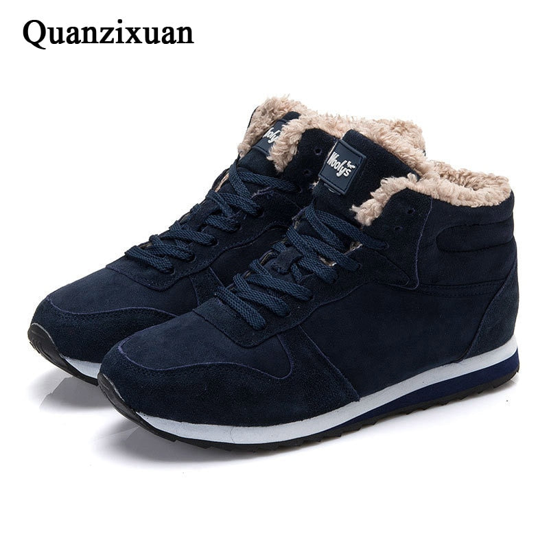 Women Ankle Boots Warm Plush Winter Snow Boots Women Casual Women Shoes Fashion Couple Round Toe Female Boots Suede Size 35 46