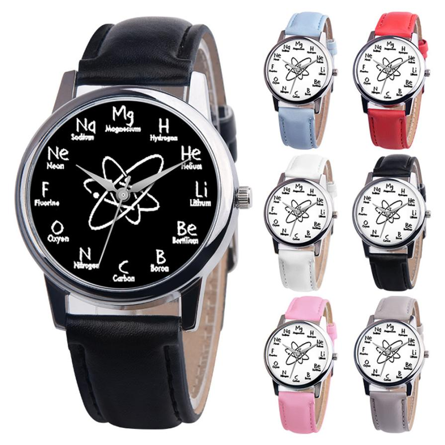 2018 Leather Stainless Steel luxury Beautiful Ladies WristWatch Unisex Casual Women's quartz watch Simple Fashionable clock #D
