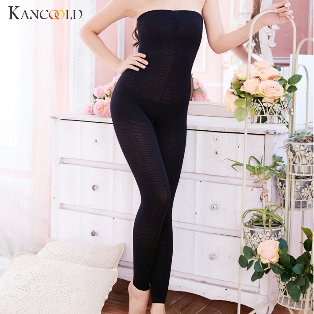 KANCOOLD Pants Leggings Sculpting Sleep Leg Shaper Seamless Pants Legging High Waist Body Shaper Footsteps pants woman 2019JAN2