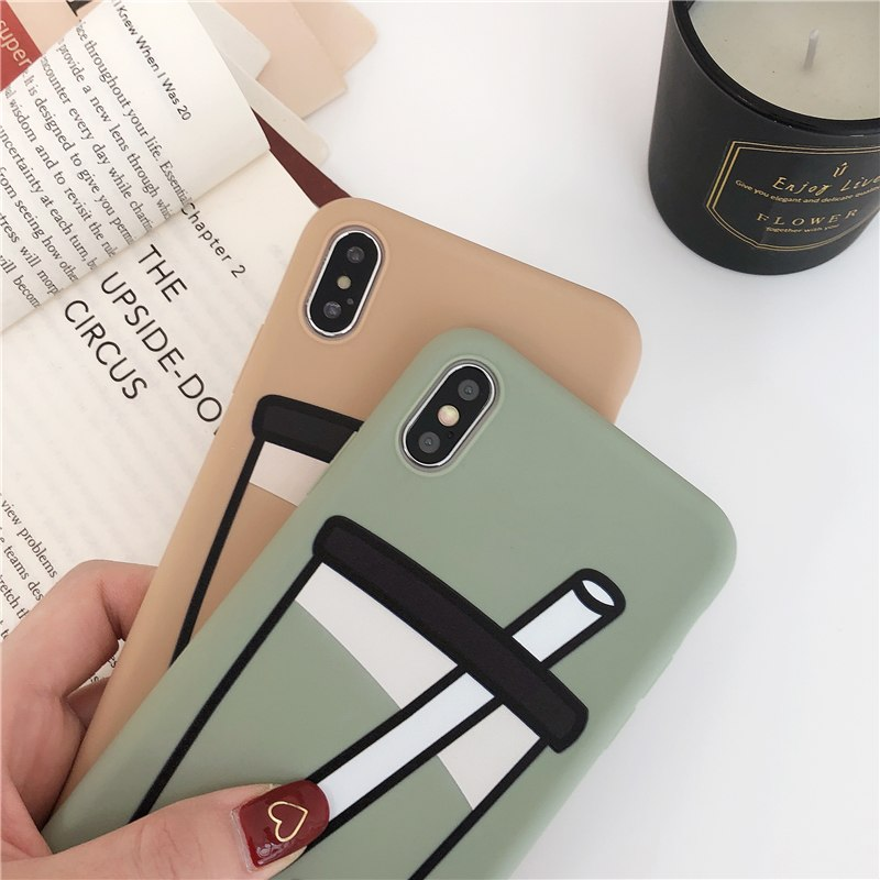 Phone Bags & Cases Hearty Lovely Gray Elk Pattern Phone Case For Iphone X Xr Xs Max Cute English Alphabet Scrub Hard Shell For Iphone 6 6s 7 8 Plus