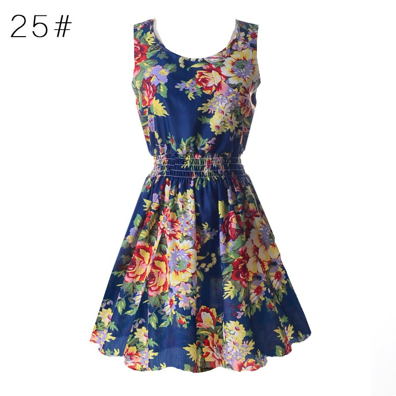 2815f5155c9 Sexy Vestidos Sleeveless Sundress Women Party Dresses Summer Beach Floral  Tank Mini Dress XXL Vestidos Dresses