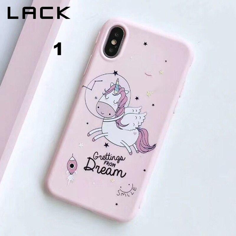 reputable site 527d8 c1330 Cute Unicorn Phone Case For iPhone X Case For iphone 6 6S 7 8 Plus Back  Cover Candy Color Cartoon Pattern Cases Soft Capa