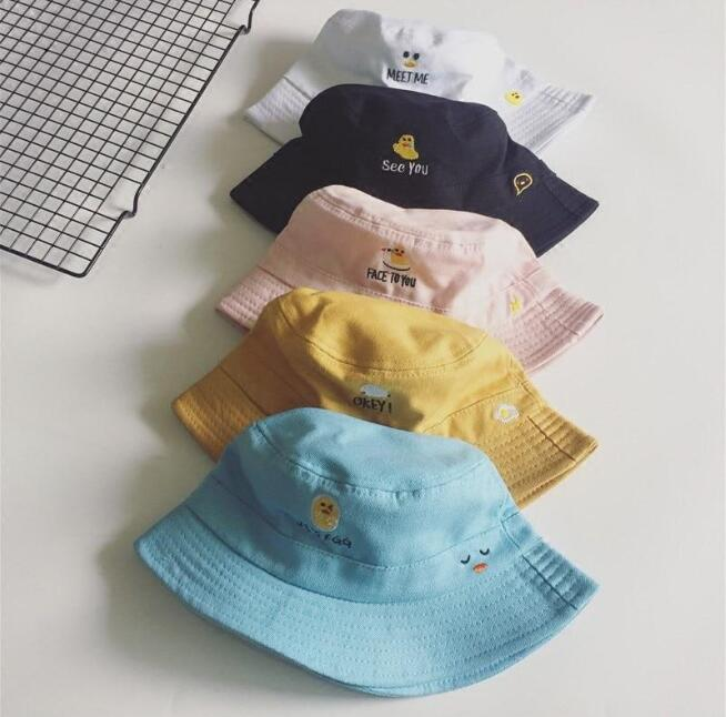 Cartoon letter embroidery fisherman hat