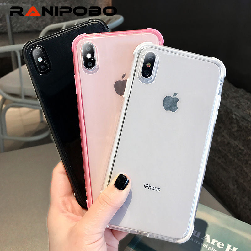 Kids' Clothes, Shoes & Accs. Lack Candy Color Anti-knock Clear Soft Cases For Iphone Xs Max Transparent Protector Back Cover For Iphone 8 Plus 6 6s 7 X Xr