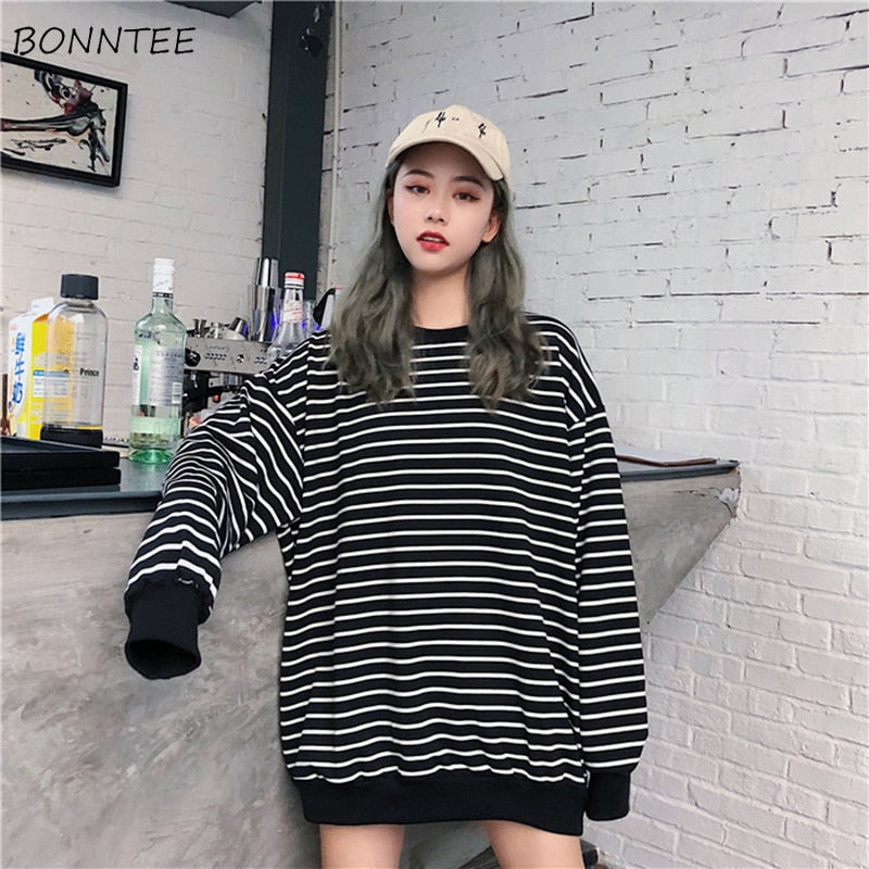 Hoodies Women Solid Colour Korean High Quality Chic All-match Korean Style Female Lovely Womens Pullover Hooded Sweatshirts Chic Women's Clothing