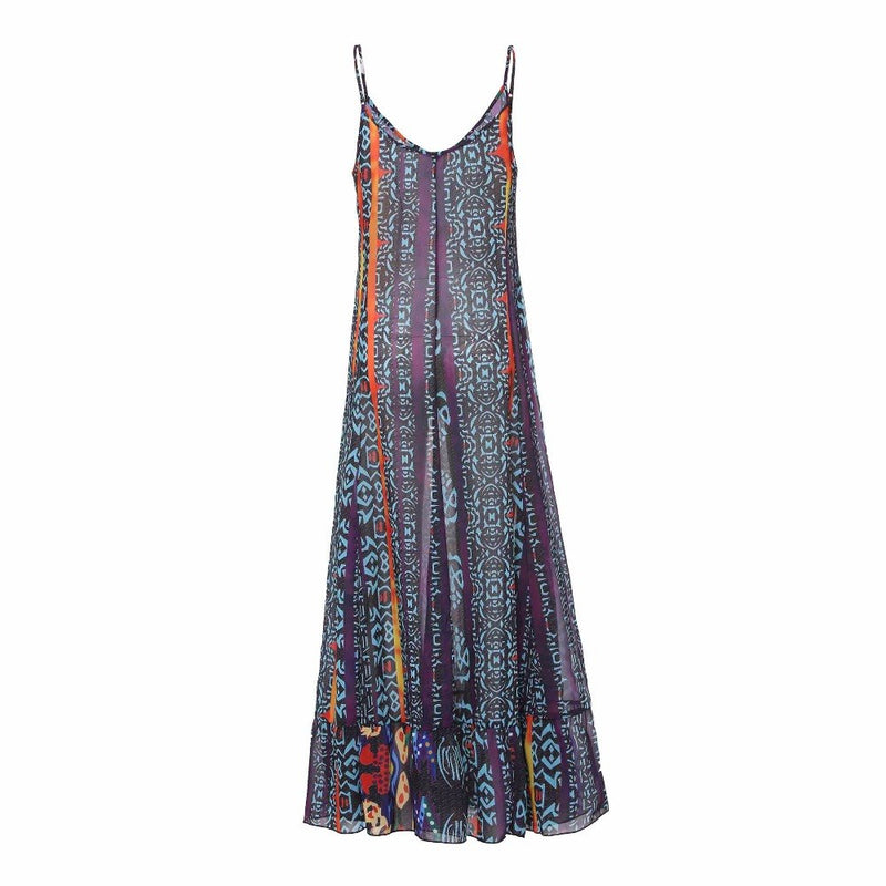 1b668a919a6 Women Sundress Maxi Dress Purple Floral Elegant Boho Dresses Women Female  Casual Long Dress 2019 Large