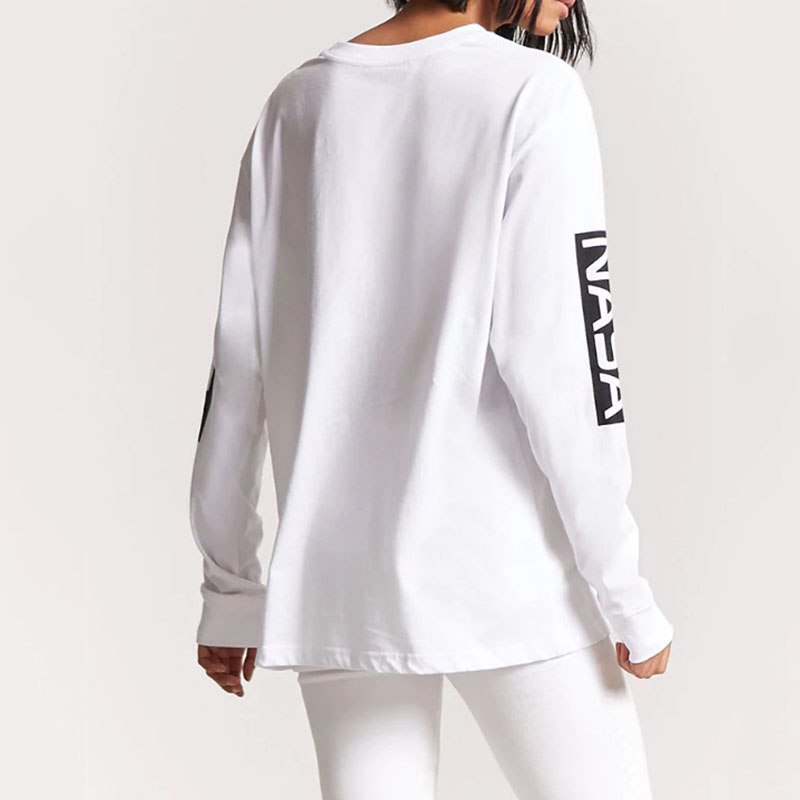 d487428e9dc Women Hoodies 2018 Autumn Letters Printed Long Sleeve Sweatshirts Casual  Harajuku White Pullovers O-neck