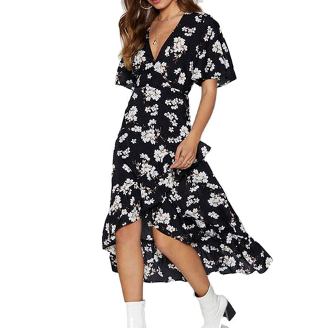 88cb3c3b06e16 Lily Rosie Girl Hollow Out Lace Up Women Dress 2019 Summer Boho ...