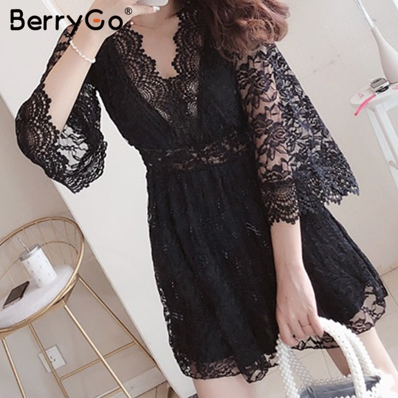women dresses Embroidery lace dress  Summer dress sexy backless plus size dresses Long sleeve spring party vestidos