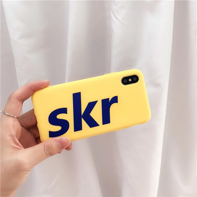 c53b24bd5f28f Simple Skr Letter Phone Case For iphone X Case For iphone 6 6s 7 8 plus