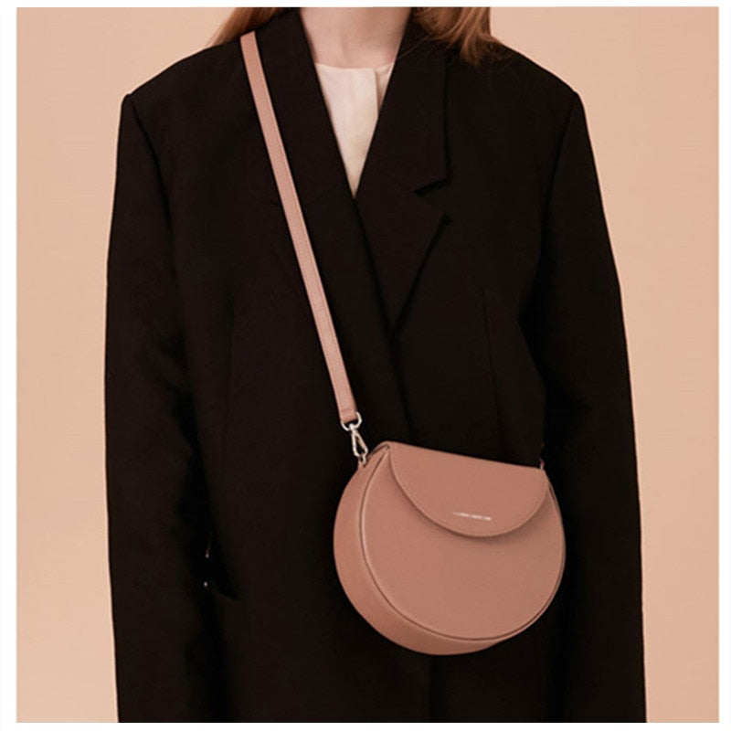 Circular purses handbags designer bags famous brand women bags 2019 Irregular small round bag Soild Cute Shoulder messenger Bag