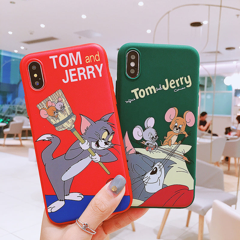 ca26ca3601 Cute Tom And Jerry Phone Case For iPhone XS MAX XR Cartoon Cat And Mouse  Soft
