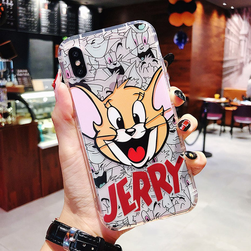 4744fa31283862 Beily Tom Jerry Clear Case for iPhone XS Max XR 7 8 6 6S Plus Cute ...