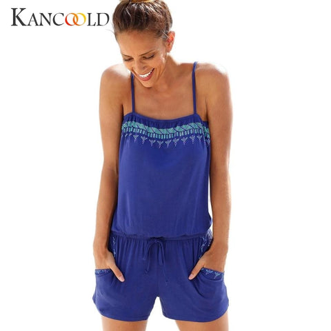 81db87c41d 2017 New Fashion Elegant Womens Holiday Casual Mini Playsuit Ladies  Jumpsuit Summer Beach Rompers Hot Sale July0720