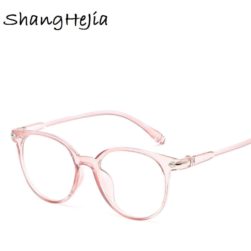 Transparent Fashion Women Glasses Frame Men Eyeglasses Frame Vintage Round  Glasses Optical Spectacle Frame