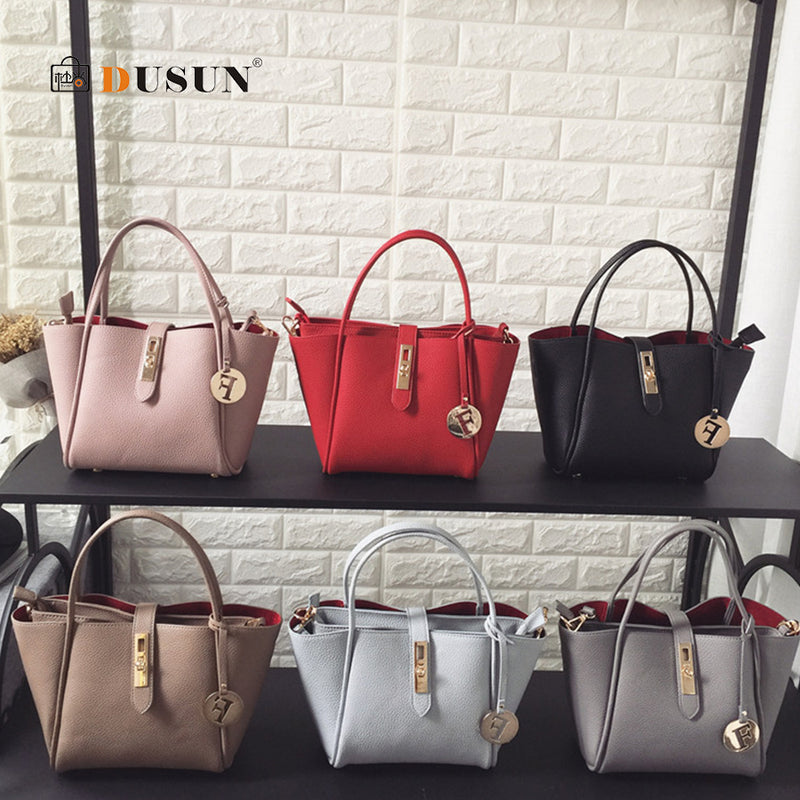 f4bf4aa6e2 DUSUN Rivet Women Handbags Set 2019 PU Leather Female Causal Tote for Daily  Shopping All-